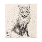 "Target ""Fox"" for shooting from the pneumatic weapon,14 x14 cm, distance of 10 meters"