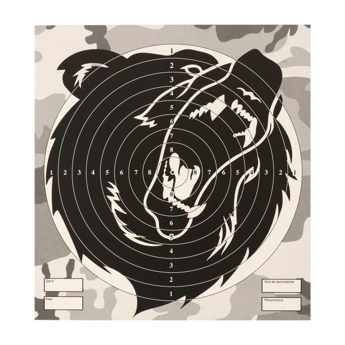 """Мишень """"Медведь"""" для стрельбы из пневматического  оружия,14 х14 см,дистанция 10 метров"""