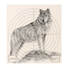 "The target of the ""Wolf"" for shooting from the pneumatic weapon,14 x14 cm, distance of 10 meters"