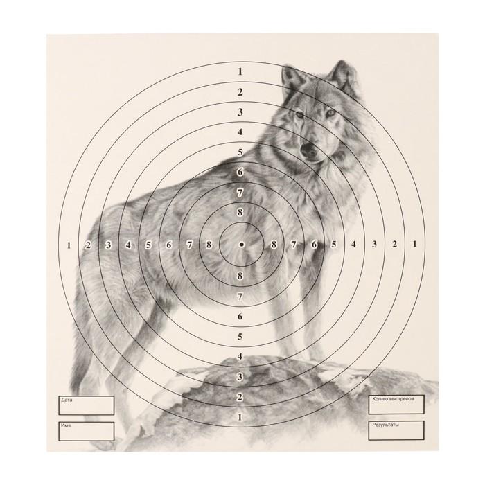 """Мишень """"Волк"""" для стрельбы из пневматического  оружия,14 х14 см, дистанция 10 метров"""