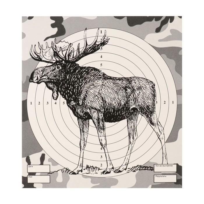 """Мишень """"Лось"""" для стрельбы из пневматического оружия,14 х14 см, дистанция 10 метров"""