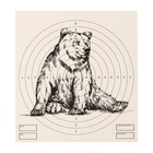 "Target ""Bear"" for shooting from the pneumatic weapon,14 x14 cm, distance of 10 meters"