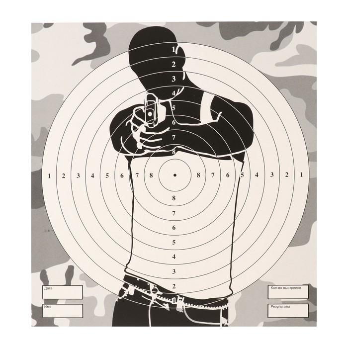 """Мишень """"Человек"""" для стрельбы из пневматического  оружия,14 х14 см,дистанция 10 метров"""