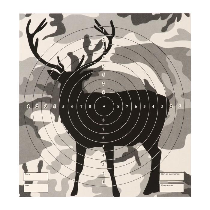 """Мишень """"Олень"""" для стрельбы из пневматического  оружия,14 х14 см,дистанция 10 метров"""