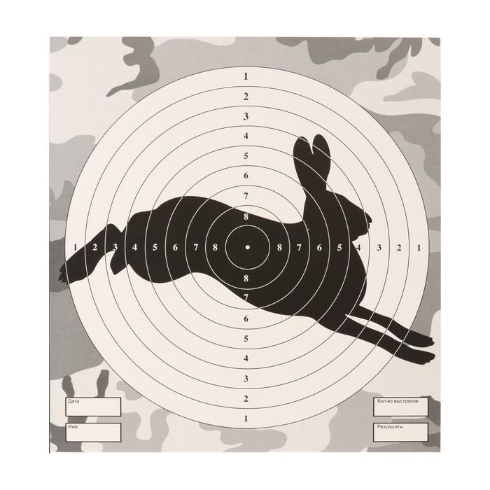 """Мишень """"Заяц"""" для стрельбы из пневматического  оружия, 14 х14 см, дистанция 10 метров"""