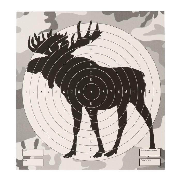 """Мишень """"Лось"""" для стрельбы из пневматического  оружия, 14 х14 см, дистанция 10 метров"""