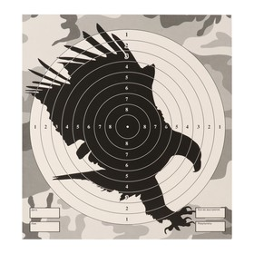 "The target ""eagle"" for shooting from the pneumatic weapon,14 x14 cm, distance of 10 meters"
