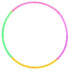 Обруч разборный, d=50 см, толщина 1,8 см, цвета МИКС