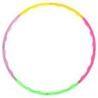 Обруч разборный цветной, пластиковый, d=50 см, толщина 1,5 см, цвета МИКС