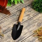 Совок посадочный, длина 25 см, ширина 7 см, деревянная ручка