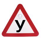 """Sign on car """"Y"""""""