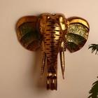 """Сувенир дерево """"Голова Слона"""" 50х48х20 см"""