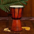 """Музыкальный инструмент барабан джембе """"Классика"""" 25х14х14 см"""