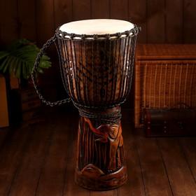 """Музыкальный инструмент барабан джембе """"Тёмный"""" 60х25х25 см МИКС"""