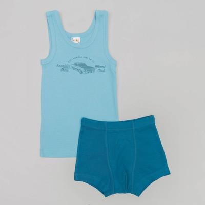 Комплект для мальчика(майка, трусы-боксеры), рост 98/104 см, цвет микс