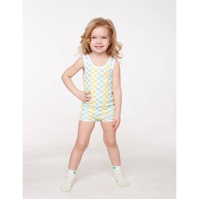 Комплект для девочки (майка, трусы), рост 98/104 см, цвет микс 203-006-00001