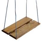 Качель подвесная, деревянная, морёная, 40х22см, цвет микс