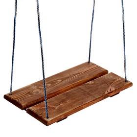Качель подвесная, деревянная, брашированная, состаренная, 40х22см, цвет микс Ош