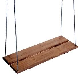 Качель подвесная, деревянная, морёная, 60х22см Ош