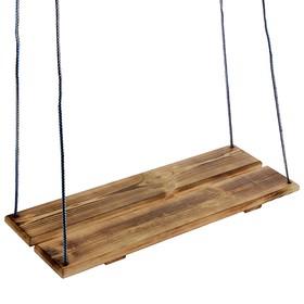 Качели подвесные, деревянные, сиденье 60×22см