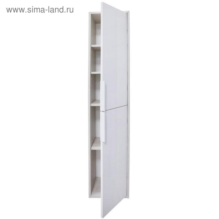 "Шкаф-колонна ""Рико"" Белый/Ясень фабрик 1A216603RIB90, цвет белый"