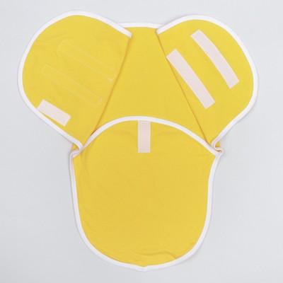 Пеленка-кокон на липучках, рост 50-62 см, цвет жёлтый, интерлок 1139