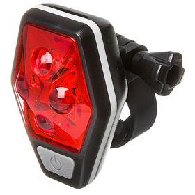 Фонарь велосипедный задний STG TL5437, 4 красных диода по 0,5 ватт