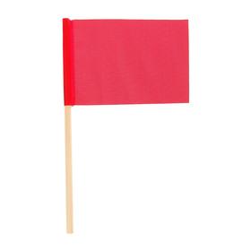 Флажок длина 25 см, 10x15, цвет красный