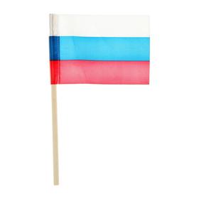 Флажок длина 25 см, 10 x 15 см, цвет триколор