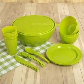 Набор посуды на 3 персоны Bono, 19 предметов, цвет МИКС