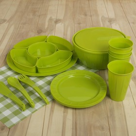 Набор посуды на 4 персоны Bono, 22 предмета, цвет МИКС