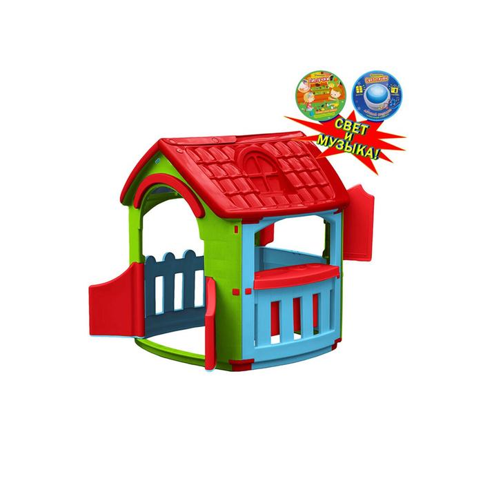 Домик - кухня, цвет голубой, зелёный, красный, со светом и музыкой