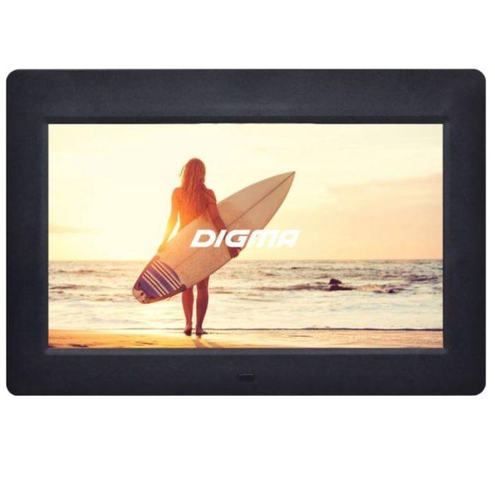 "Фоторамка Digma 10.1"" PF-1033, 1024x600, пластик, ПДУ, видео, черная"