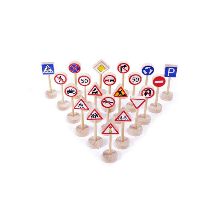 """Игровой набор """"Дорожные знаки"""", 20 штук"""