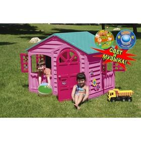 Домик игровой, со светом и музыкой, цвет розовый, голубой Ош