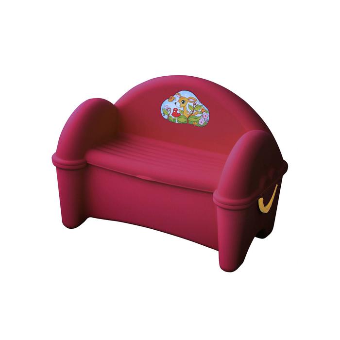Диван - ящик, цвет бордовый