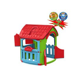Домик - гараж игровой, цвет голубой, красный, салатовый, со светом и музыкой Ош