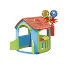 Домик - кухня - мастерская, цвет голубой, зелёный, красный, со светом и музыкой