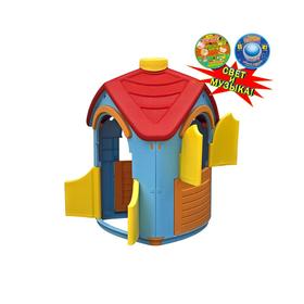 Домик игровой разборный, цвет голубой, красный, со светом и музыкой Ош