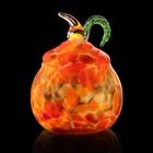 """Шкатулка стекло ларчик """"Яблоко"""" красно-желтый 12х10х10 см"""