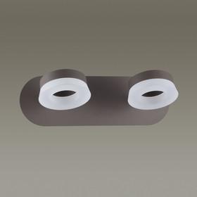 Бра WENGELINA 2x6Вт LED 3000K коричневый 16,5x28x9см