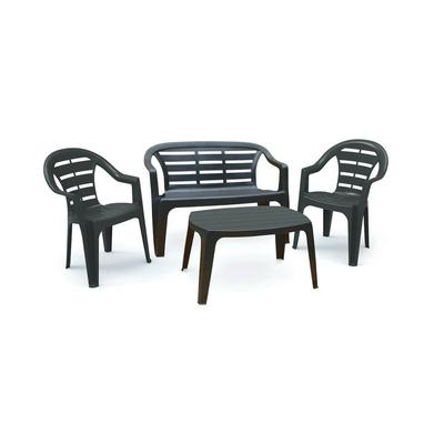 Набор для отдыха MADURА, скамья 2-хместная, 2 кресла, столик,пластик