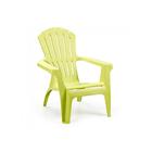 Кресло DOLOMITI, 75 × 86 × 86 см, пластик, фактура под дерево, зелёное