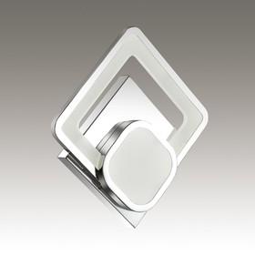 Бра LEO 1x24Вт LED 4000K хром, белый 4,5x21x6,5см
