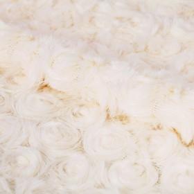 Ткань для пэчворка плюш «Белая роза», 55 × 50 см
