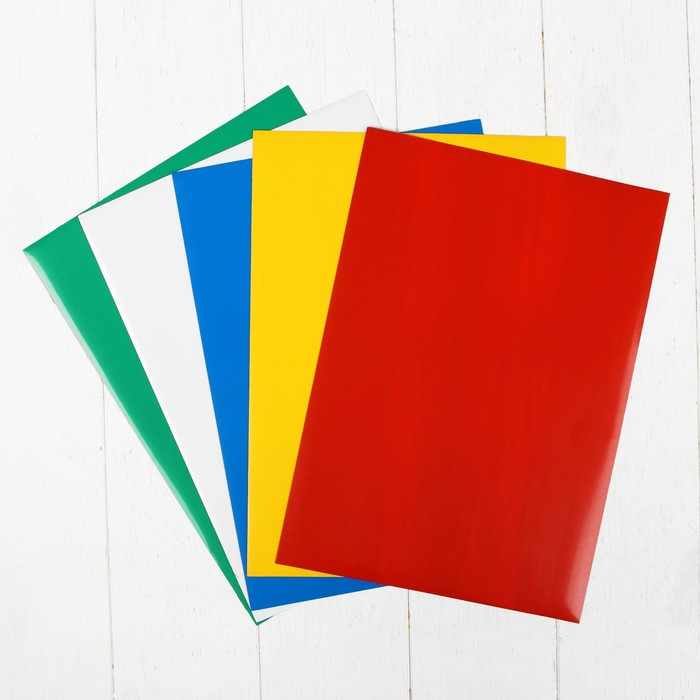Набор мягких магнитно-маркерных досок, 5 цветов, 20 × 30 см - фото 601618772