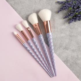 "Brush set ""Unicorn"", 5 subjects, 20cm, white"