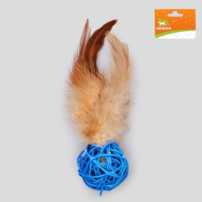 Игрушка для кошек из лозы