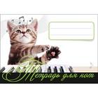 Музыка для детей. Тетрадь для нот. Котенок - музыкант.