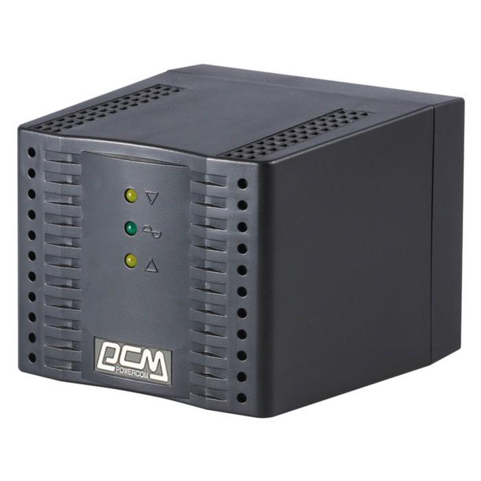 Стабилизатор напряжения Powercom TCA-3000, 1500Вт, 3000ВА, черный